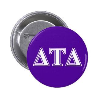Delta Tau Delta White and Purple Letters Buttons