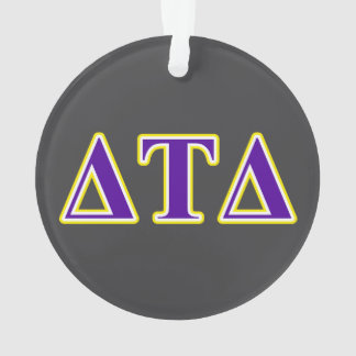 Delta Tau Delta Yellow and Purple Letters