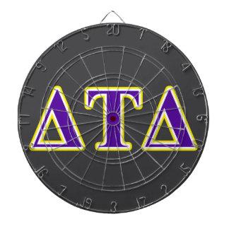 Delta Tau Delta Yellow and Purple Letters Dartboard