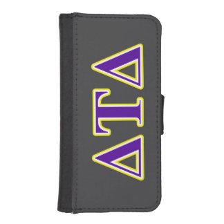 Delta Tau Delta Yellow and Purple Letters iPhone SE/5/5s Wallet