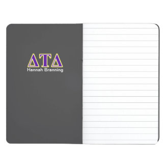 Delta Tau Delta Yellow and Purple Letters Journals