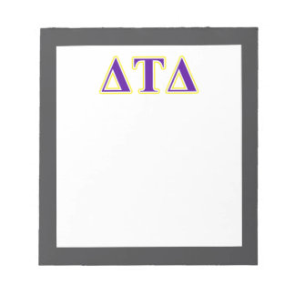Delta Tau Delta Yellow and Purple Letters Scratch Pad