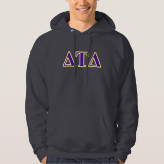 Delta Tau Delta Yellow and Purple Letters Pullover
