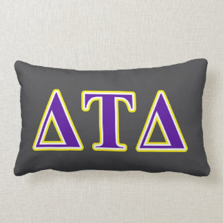 Delta Tau Delta Yellow and Purple Letters Throw Pillow