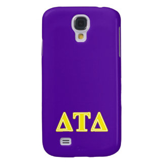 Delta Tau Delta Yellow Letters Samsung Galaxy S4 Covers