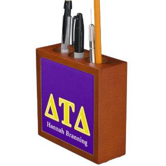 Delta Tau Delta Yellow Letters Desk Organizer