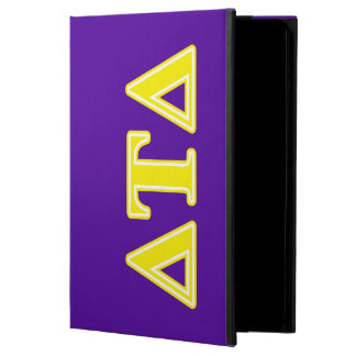 Delta Tau Delta Yellow Letters iPad Air Cover