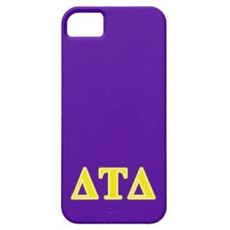 Delta Tau Delta Yellow Letters iPhone SE/5/5s Case