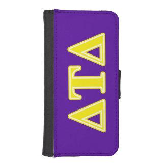 Delta Tau Delta Yellow Letters iPhone SE/5/5s Wallet Case
