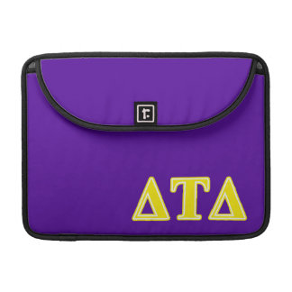 Delta Tau Delta Yellow Letters MacBook Pro Sleeves