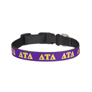 Delta Tau Delta Yellow Letters Pet Collars