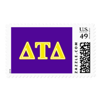 Delta Tau Delta Yellow Letters Postage Stamps
