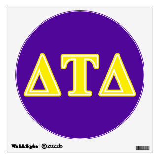 Delta Tau Delta Yellow Letters Wall Sticker
