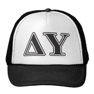 Delta Upsilon Black Letters Trucker Hat