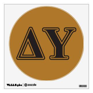 Delta Upsilon Black Letters Wall Sticker