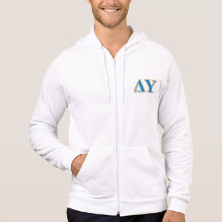 Delta Upsilon Gold and Sapphire Blue Letters Hooded Pullover