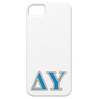 Delta Upsilon Gold and Sapphire Blue Letters iPhone SE/5/5s Case