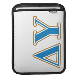 Delta Upsilon Gold and Sapphire Blue Letters Sleeve For iPads