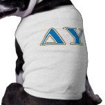 Delta Upsilon Gold and Sapphire Blue Letters T-Shirt