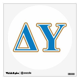 Delta Upsilon Gold and Sapphire Blue Letters Wall Sticker
