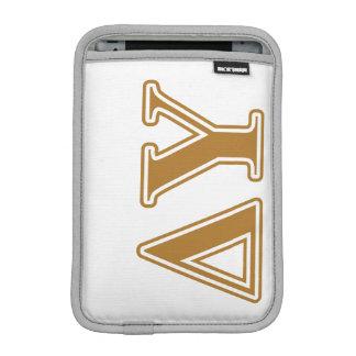Delta Upsilon Gold Letters iPad Mini Sleeves