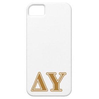 Delta Upsilon Gold Letters iPhone SE/5/5s Case