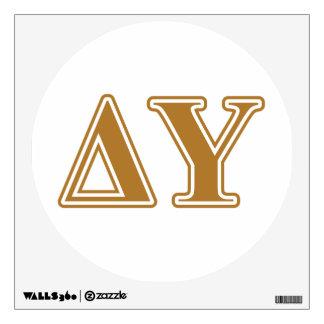 Delta Upsilon Gold Letters Wall Sticker