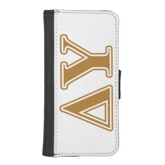 Delta Upsilon Gold Letters Wallet Phone Case For iPhone SE/5/5s
