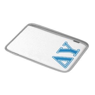 Delta Upsilon Sapphire Blue Letters MacBook Sleeves