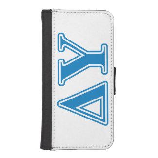Delta Upsilon Sapphire Blue Letters iPhone SE/5/5s Wallet Case