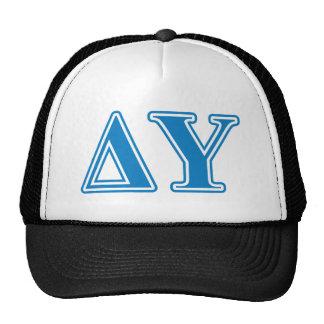 Delta Upsilon Sapphire Blue Letters Trucker Hat
