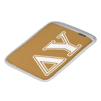 Delta Upsilon White and Gold Letters iPad Sleeve