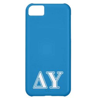 Delta Upsilon White and Sapphire Blue Letters Case For iPhone 5C