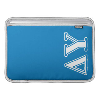 Delta Upsilon White and Sapphire Blue Letters MacBook Air Sleeve