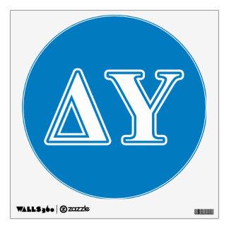 Delta Upsilon White and Sapphire Blue Letters Wall Sticker