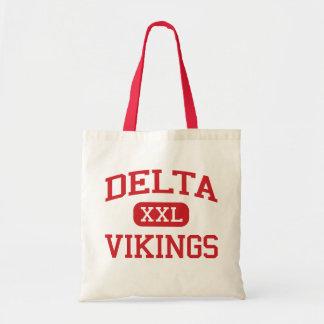 Delta - Vikingos - escuela secundaria del delta - Bolsas Lienzo