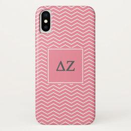 Delta Zeta   Chevron Pattern iPhone X Case