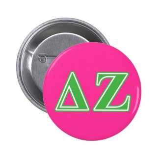 Delta Zeta Green Letters Button