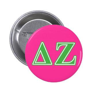 Delta Zeta Green Letters Button