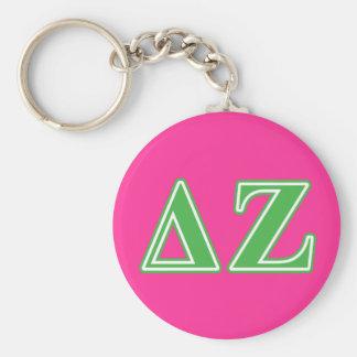 Delta Zeta Green Letters Keychain