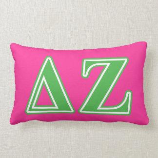 Delta Zeta Green Letters Pillow