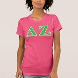 Delta Zeta Green Letters T-Shirt