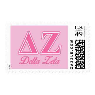 Delta Zeta Pink Letters Postage