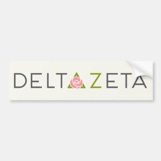 Delta Zeta Primary Logo Bumper Sticker