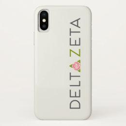 Delta Zeta Primary Logo iPhone X Case