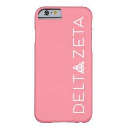 Delta Zeta Primary Logo White Barely There iPhone 6 Case
