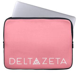 Delta Zeta Primary Logo White Laptop Sleeves