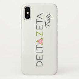 Delta Zeta Primary Logo with Promise iPhone X Case