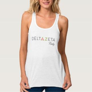 Delta Zeta Primary Logo with Promise Tank Top