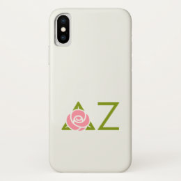 Delta Zeta Rose Icon iPhone X Case